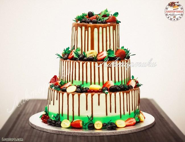 Многоярусный торт своими руками
