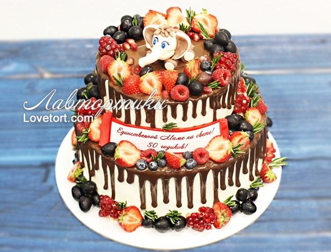 Торт для мамы на юбилей 60 лет фото